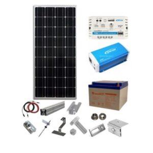 Sistem fotovoltaic 100W 12V – Invertor 230V