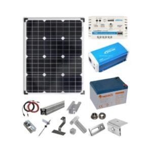 Sistem fotovoltaic 30W cu Invertor 12V 200W